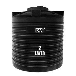 Black & White Plastic RAJ Water Tank 2 Layer 4000lit