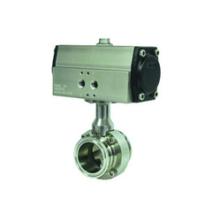 SS Pneumatic Operated TC End Butterfly Valve