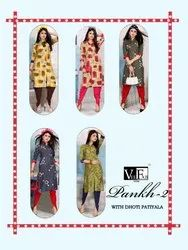 Printed Kurti With Dhoti Palazo