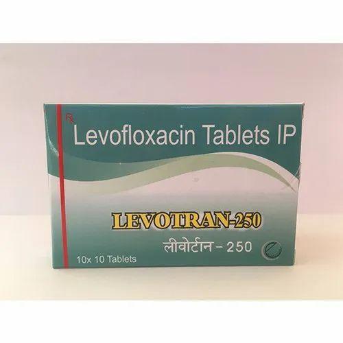 Levotran-250 Levofloxacin Tablets IP, Packaging Size: 10x10 Tablets, Prescription