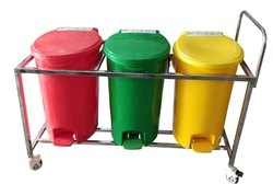 BIO MEDICAL WASTE SEGREGATION TROLLEY 55 LTR