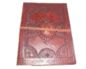 Vintage Leather Writing Journal with Stone
