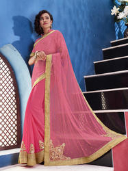 Georgette Bandhani Net Saree