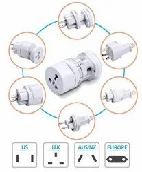 All in One Universal Travel Adapter / Supports 150 Countries US, UK, AUS, Middle East, Europe, IND