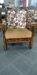 Pure Teak Wood Sofa Peacock Model