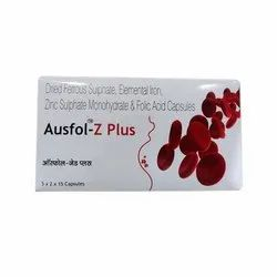 Ausfol-Z Plus Capsules, Packaging Size: 5 X 2 X 15, Packaging Type: Strip And Box