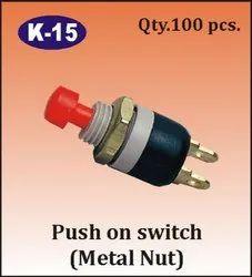 K-15 Metal Nut Push on Switch