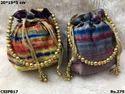 Colourful Silk Potli