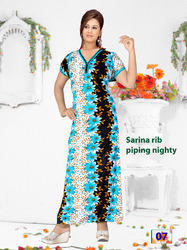 Sarina Fancy Piping Nighty