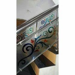 Multicolor Stainless Steel, Glass Designer Glass Railing