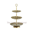 3 Tier Metal Cake Stand Golden Color