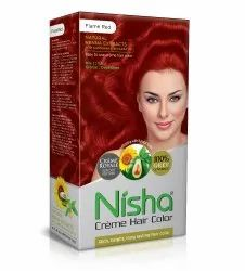Flame Red Nisha Creme Hair Color,  for Personal