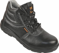 Black High Ankle Safety Shoes