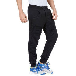 Black Cotton Mens Track Pant And Jogger