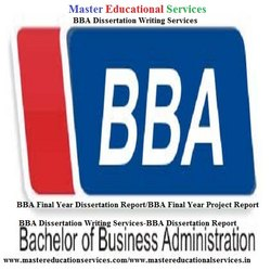 Chennai BBA Dissertation Writing Services