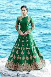Green Ethnic Gown