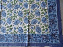 Jaipuri Hand Block Printed Cotton Fabric Bed Sheet