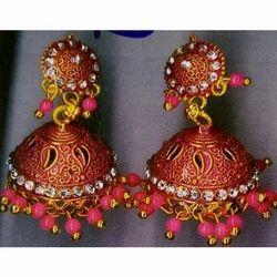 Ladies Pink Jhumki