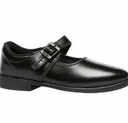Baata Bata Black School Shoes For Girls, Size: 13