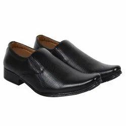 Eva Mens Black Genuine Original Leather Formal Shoes, Size: 6-10