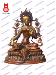Green Tara Sitting Double Base Figures
