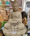 Stone Look Buddha Statue With Lotus Base- Fountain