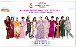 Plain, Printed & Embroided Cotton ladies nighties