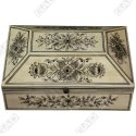 Pyramid Bone Jewelry Box - Bone Inlay Furniture By Galaxy Art Deco