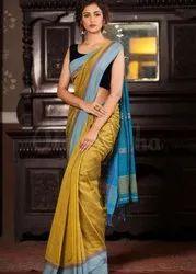 Formal Wear Cotton Saree, 6.5 M