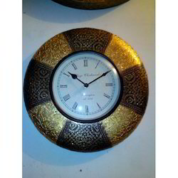 A Beautiful Wooden & Brass Handmade Clock