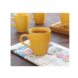 100 ML Yellow Ceramic Coffee Mug