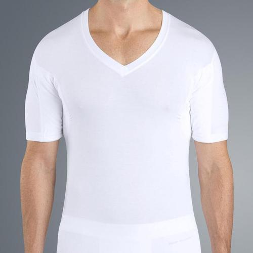 c217bb3e12d White Plain Men  s V Neck Sweat Proof T-Shirts