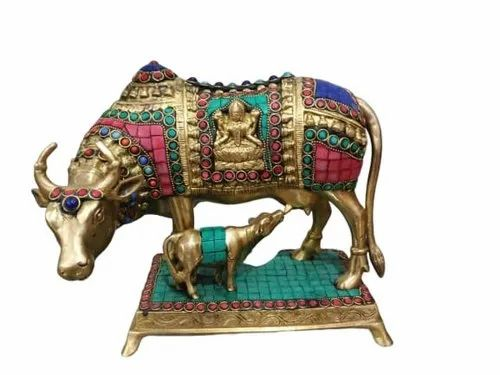 Golden Brass Animal Sculptures For Decoration