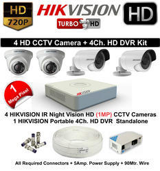 Hikvision 4 Cams Bundle
