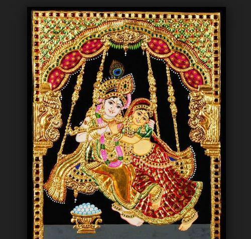 Radha Krishna Tanjore Painting, Size: 30x24 Inch, 20x16 Inch, Rs 3000  /piece | ID: 15407855133