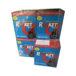Plastic 9 LB Rocket Bike Battery, Capacity: 5 Ah, Battery Type: Acid Lead Battery