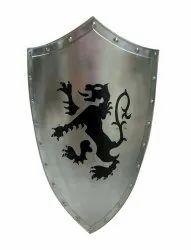 Knight Armour Steel Shield Battle Reenactment Dragon Shield 36 X 21