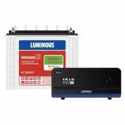 Luminous Zelio 1100 Inverter With RC18000 150 Ah Tubular Battery, 12V