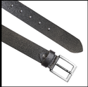 Men Black Leather Belt