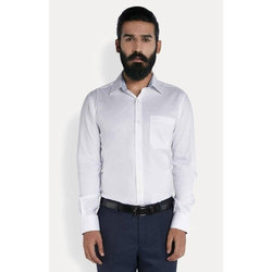 Mens Cotton White Plain Formal Shirt, Size: M, L & XL