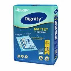 Dignity Blue Disposable Underpads, 10 Pieces, Size: 60x60 cm