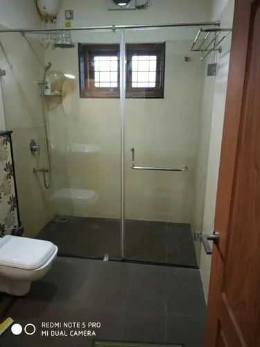 Clear Stainless Steel Shower Enclosures