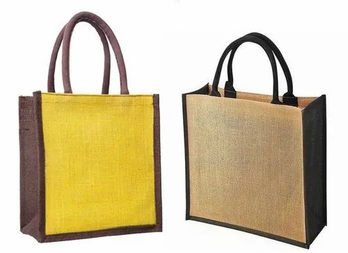 Jute Carry Bag With Cotton Handle