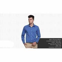 Men's Cotton Blue Formal Shirt