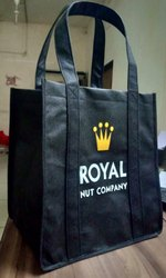 Black Handled Non Woven Shopping Bag