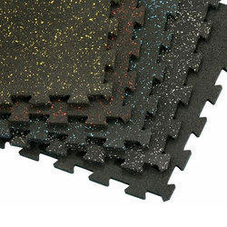 Multi Gym Interlocking Rubber Floor Tiles, Thickness: 1-5 mm