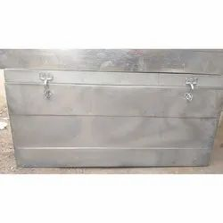 Light Weight Silver Powder Coated Aluminium Storage Box, Thickness: 22 Gauge, for Shipping