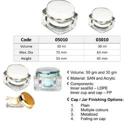 50 Gram Square Acrylic Jar