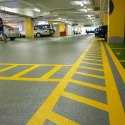 Parking Area Yellow Stripes Road Marking Services