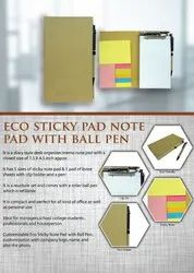 Eco Sticky Pad Notepad With Ball Pen - Giftana